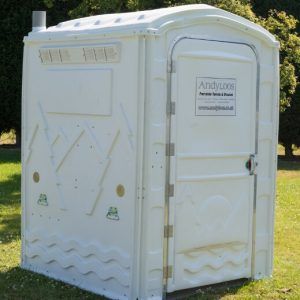 white portable disabled toilet