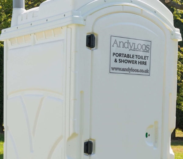 white portable toilet front